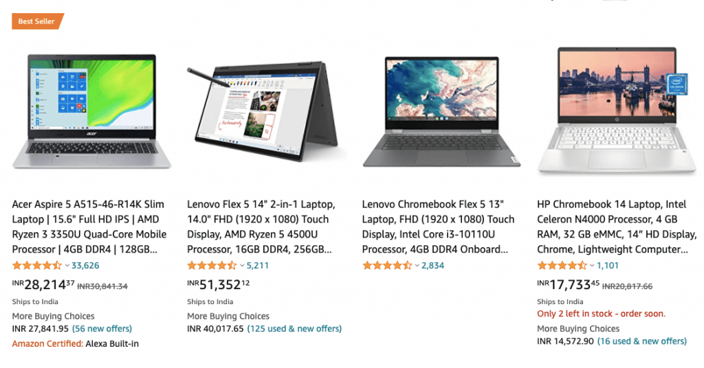 Amazon Laptop product reviews for increasing more conversions for the website.
