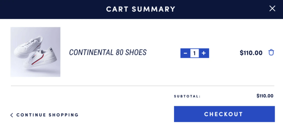 One click checkout button for Ecommerce store